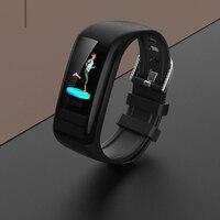 Tüketici Elektroniği'ten Akıllı Bileklikler'de Spor adım sayacı su geçirmez bilezik uyku izleme C21 renkli ekran görev hatırlatma akıllı bilezik kalp hızı