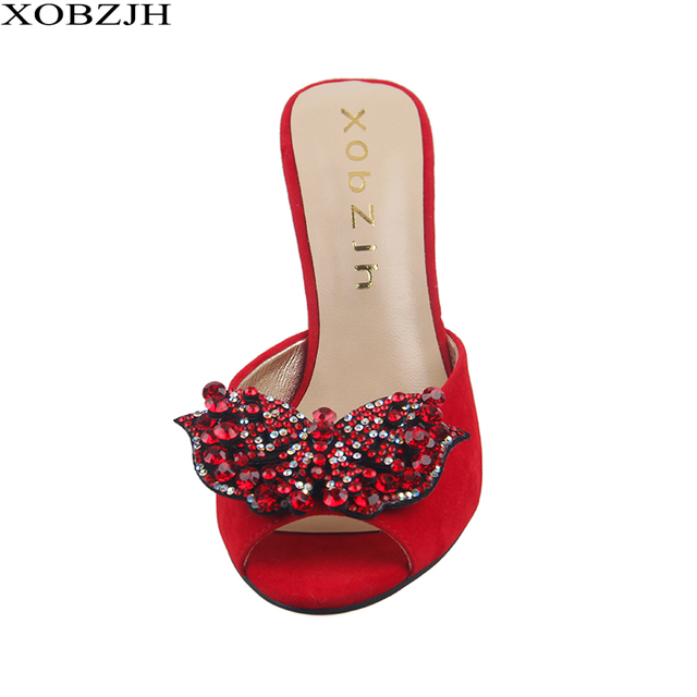 High Heels Sandals Women Shoes 2019 Sexy Ladies Luxury Leather Rhinestone Summer Sandals block heel Party Shoes Woman Open Toe 2