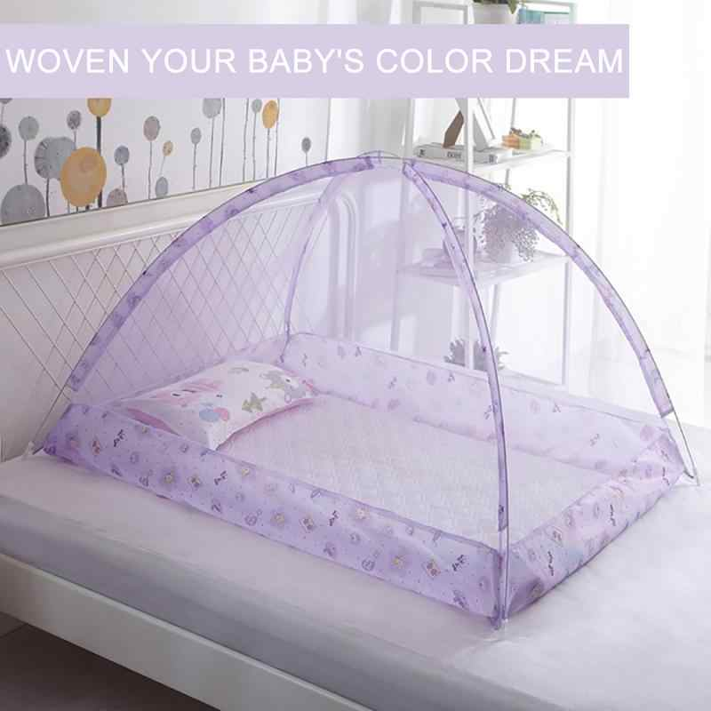 Baby Bedding Crib Netting Folding Baby Music Mosquito Nets Bed Mattress Pillow Suit For 0-3 Years Old Children