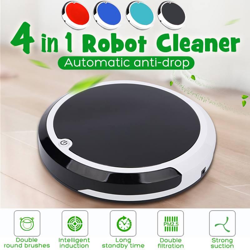 4 dans 1 Auto robot de nettoyage Intelligente robot de balayage Rechargeable Dirt Poussière Cheveux Nettoyeur Automatique Pour La Maison Électrique aspirateurs