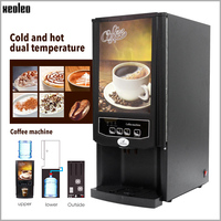 Xeoleo Automatic Coffee machine for Restaurant/Office Commercial Drip Coffee maker 2/3 Canister Cafe American 820W 220V Black