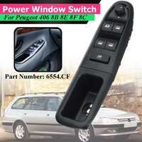 6554.CF LHD Driver Side Front Left Electronic Power Electric Window Switch For Peugeot 406 8B 8E 8F 8C 1995 2004 Control 5 Pin