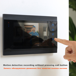 Image 3 - HomeFong przewodowy domofon wideo dla system alarmowy do domu wideo telefon drzwi z 2 Monitor 1 dzwonka aparatu detekcja ruchu nagrywanie