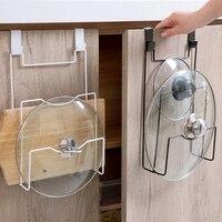 Полка для крышек для хранения, подвесной держатель для двери, металлическая пластина, подставка для посуды, разделочная кухонная доска, суш...