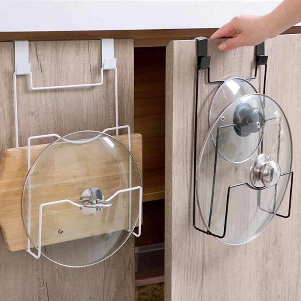 Board:  Storage Drainboard Lid Shelf Door Hanging Holder Metal Plate Stand Pan Dishes Cutting Board Kitchen Draining Rack Organizer - Martin's & Co