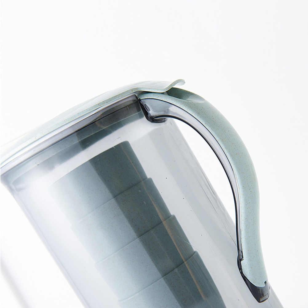 5 ピース/セット 2.1L 大容量プラスチック冷水ケトルカップ透明水ピッチャーでピクニックレストランホーム