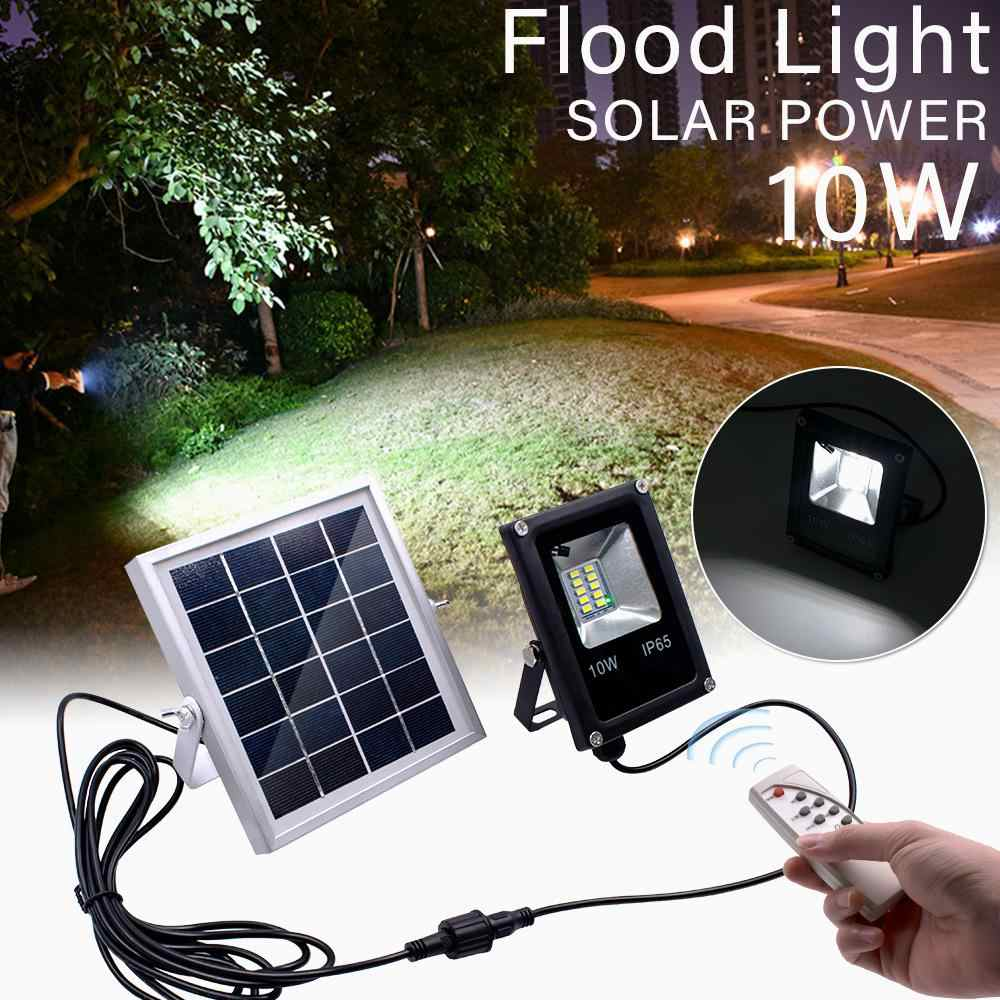 LanLan Solar Powered Flood Lights Outdoor Garden Lawn Landscape Lamps Waterproof Security Wall Lamps Floodlight +Remote Control