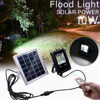 Светодиодные прожекторы на солнечных батареях наружные садовые Ландшафтные лампы водонепроницаемые настенные лампы прожектора + пульт ди...