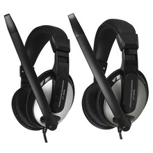 Gaming Game Headset Computer Head Wearable Double Hole Bring Microphone  game player headset