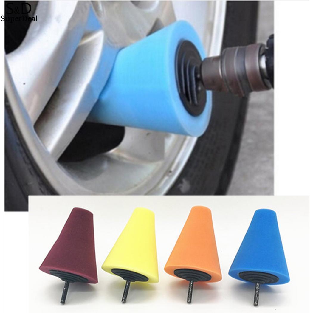 Polishing Wheel Conical Car Sponge Polishing Wheel Practical Rim Car Door Cone Creative Sponge Polishing Wheel Tapered Design