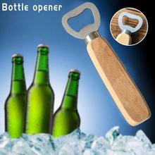 Ручка из резины и дерева из нержавеющей стали открывалка для бутылок