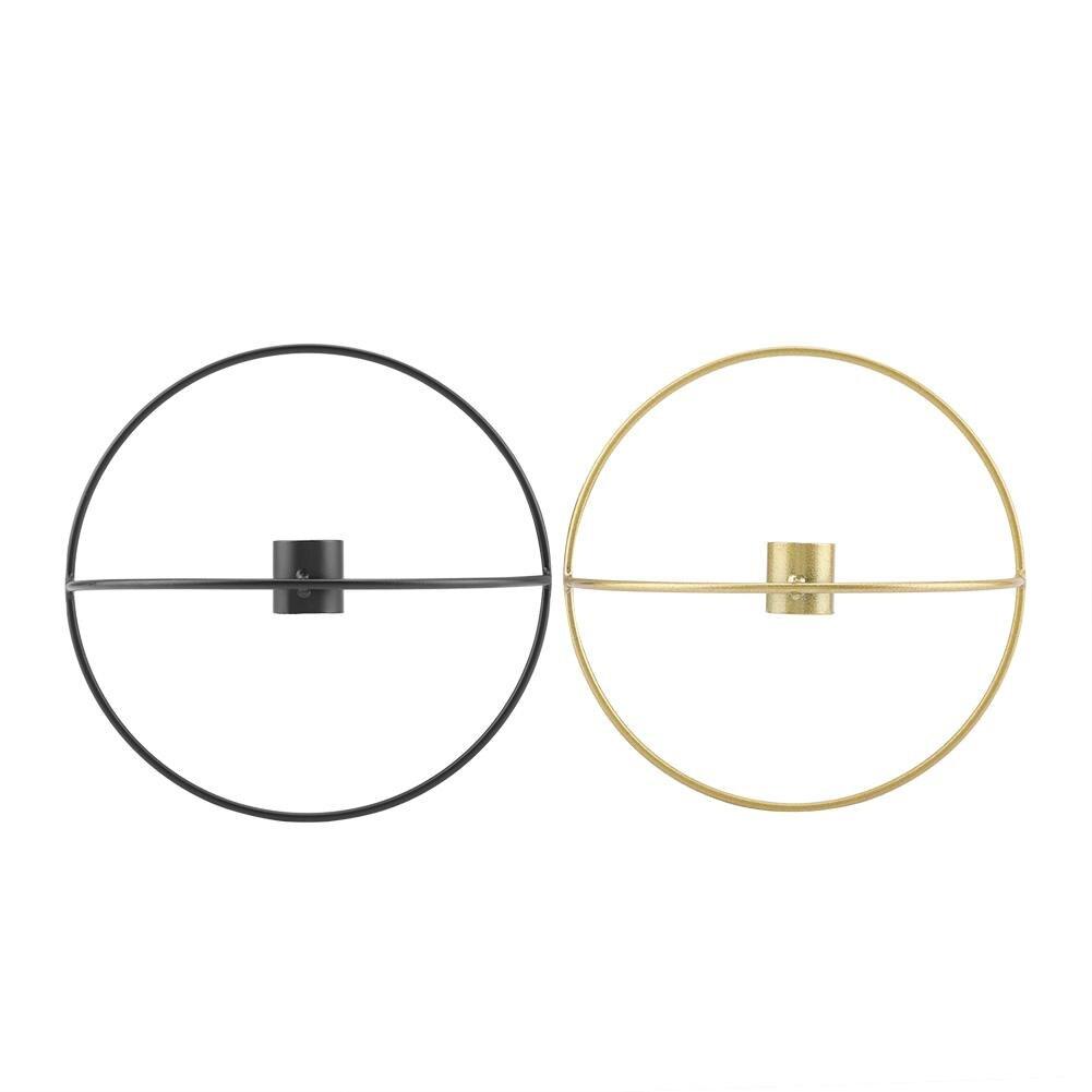 Levering 3d Geometrische Kandelaar Elegante Metalen Wandmontage Kaarshouder Thuis Decoratie Uitstekende Eigenschappen