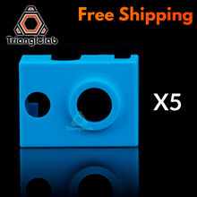 trianglelab 5PCS high quality cartridge heater bock silicone socks V6 for PT100 heated block v6 hotend nozzle