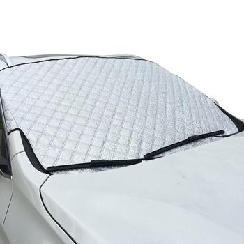 Zima gorący bubel SUV 100cm * 147cm okno samochodu śnieg osłona przeciwsłoneczna Auto okno słońce odblaskowe cień śnieg tarcza śnieg parasolka tanie i dobre opinie NoEnName_Null Waterproof Plus Cotton Thickening Foil Plandeki samochodowe 0 5kg