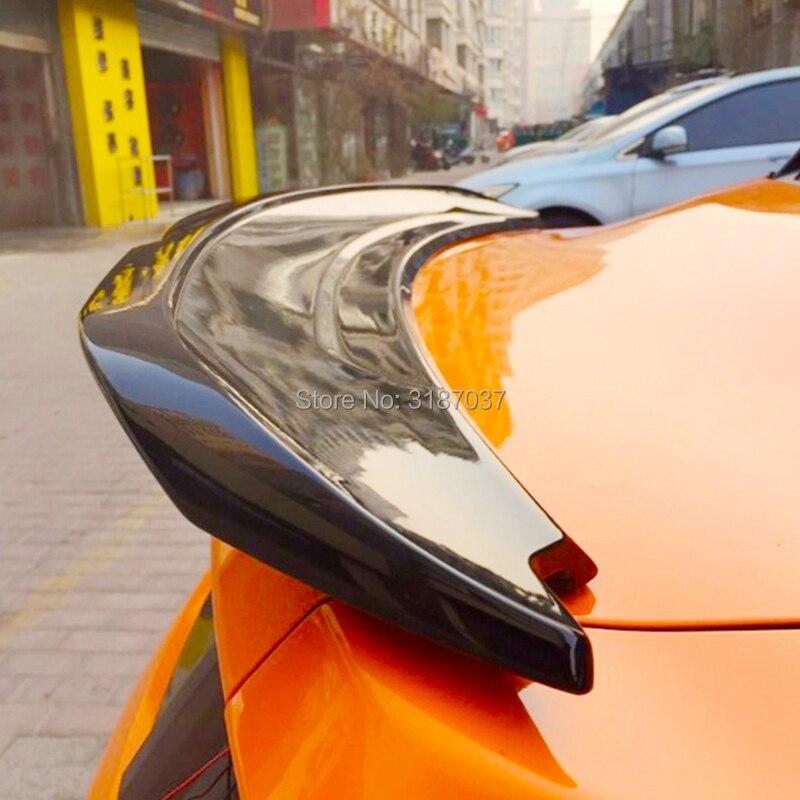 Pour Ford Mustang spoiler 2015-2019 ABS matière plastique non peint couleur aileron de toit arrière aile coffre lèvre couverture de coffre style de voiture