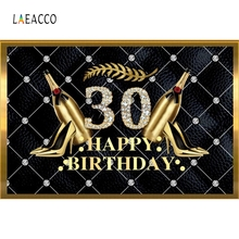 Laeacco 30th Birthday Party Goblet Women Backdrop Photography Backgrounds Customized Photographic Backdrops For Photo Studio