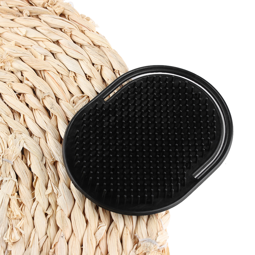 Купить с кэшбэком Portable pocket Hair Comb Set of fingers small round hair brush Shampoo brush Scalp Massage Black Comb Fashion Styling Tool