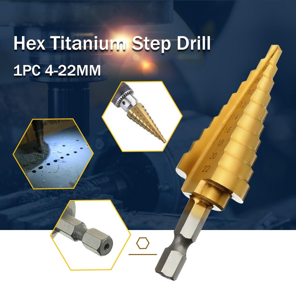Patvarus, aukštos kokybės šešiakampis, titaninis kūginis - Grąžtas - Nuotrauka 6