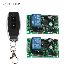 цены QIACHIP Universal Wireless 433MHz RF Remote Control Switch AC 110V 220V 1 CH RF Relay Receiver Module Light Switch Transmitter