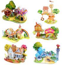 3D DIY Puzzle House Creative Children