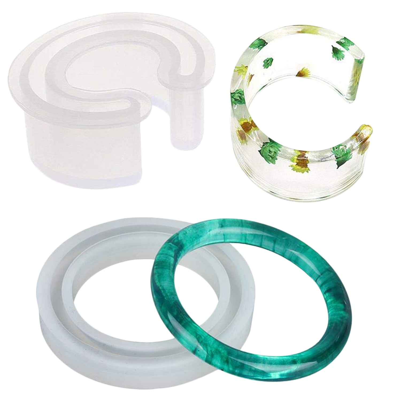 Silicone Bangle Mold Round Bracelet C Font Bracelet Mold Silicone Bracelet Casting Mould Resin Bangle Open Cuff Bracelet Jewel