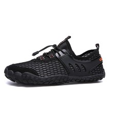 Купить с кэшбэком Men Casual Shoes Lightweight Breathable Flats Men Shoes Footwear Mesh Water Casual Shoes Men Chaussure Homme Brand Shoes 46 47