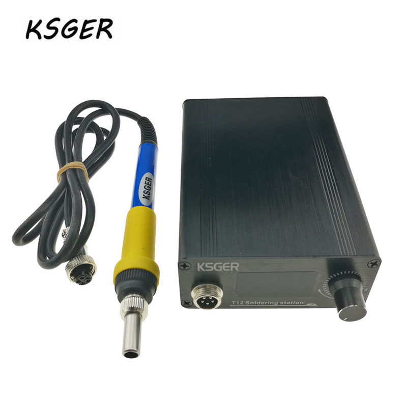 KSGER Mini V2.1S T12 900-M Temperature Controller Soldering Station Metal Case Cover High Power Supply 9501 Soldering Iron 70W