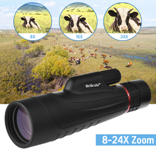 New 8-24x50 Zoom Monocular High Quality Telescope Bird Watching Pocket Portable Travel Scope for Hunting Hiking Camping стоимость