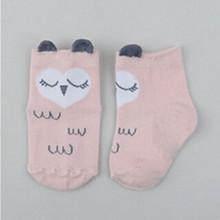 PUDCOCO Infant Kids Girls Toddler Baby Ankle Socks Cartoon Animal Anti Slip Cotton