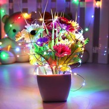 LED fairy light 20 LEDs Battery Powered Copper wire String  6 Pack 2 M Holiday lighting Garland For Christmas Tree P35