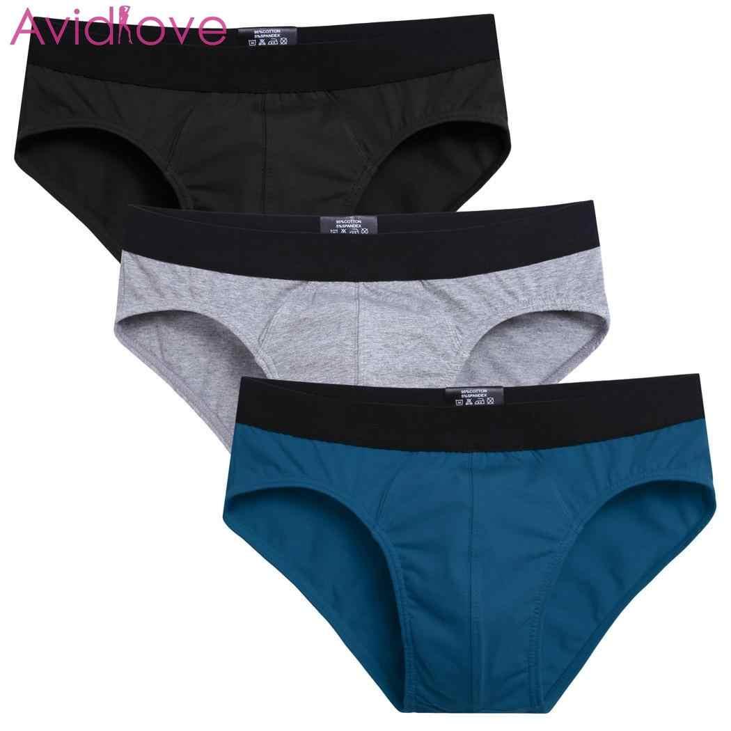 Avidlove 3 unids/lote hombres Algodón elástico sólido cadera cómoda ropa interior Mutil Color Boxshort bragas hombre Boxeur Homme hombres caja