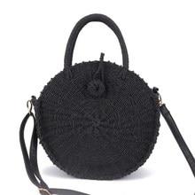 2019 Summer Women Handmade Round Beach Shoulder Bag Bali Circle Straw Bags Woven Rattan Handbags Messenger Ins Popular
