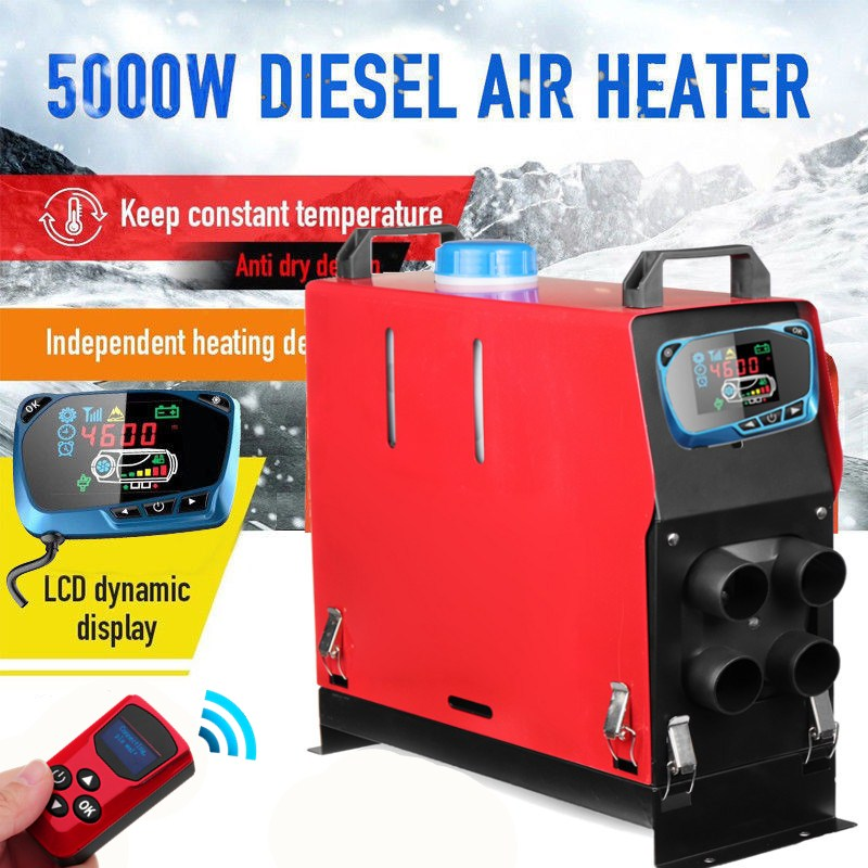 Todo en uno de 3000 W/5000 W aire diesel calentador de 3KW/5KW 12 V calentador de coche para camiones motor-casas barcos Bus + Nuevo LCD interruptor de llave + control remoto
