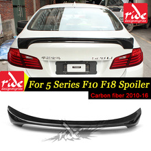 F10 Rear Spoiler Wing For BMW F18 5-Series 520i 525i 528i 530i 535i 550i Carbon Fiber Trunk Lip Tail 10-16