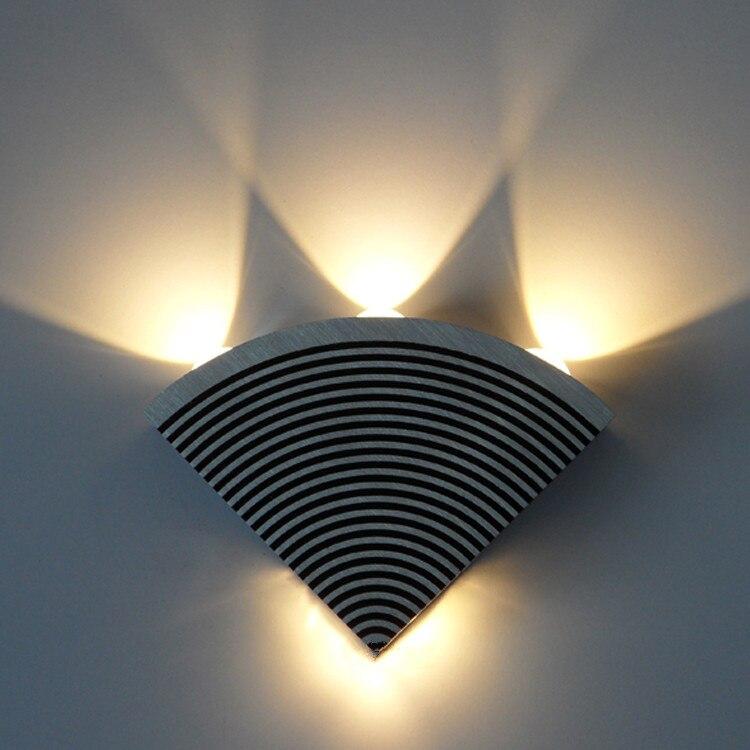Moderne LED escalier applique murale café salle de jeux en aluminium mur LED lampe Bar jardin allée Loft étanche rouille preuve appliques
