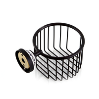 1pc Toilet Tissue Basket Wall Mount Vintage Roll Cover Wire Basket Toilet Paper Holder for Bathroom Cosmetic Shower Storage