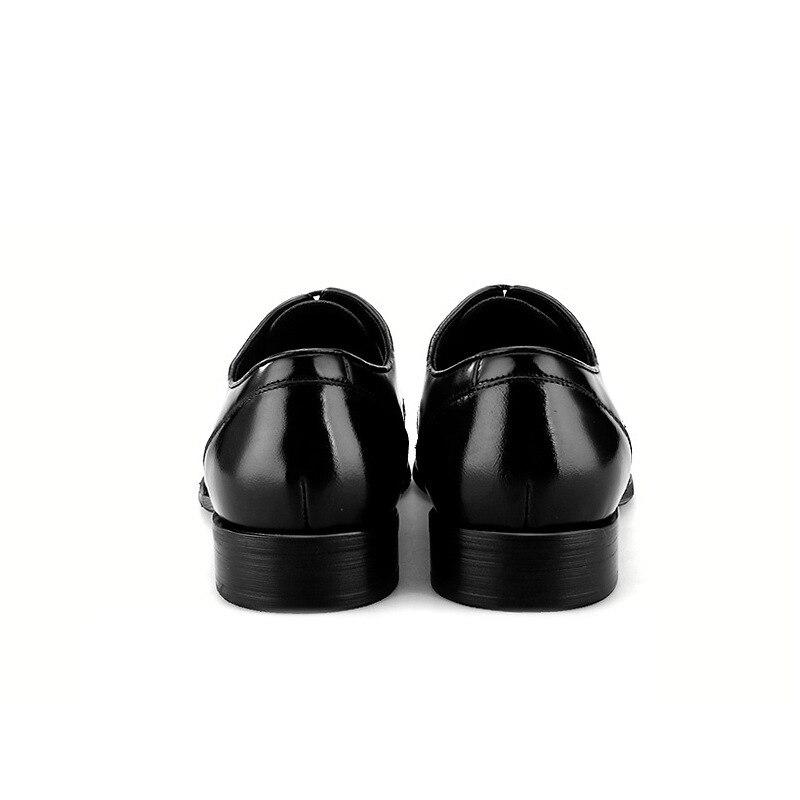 Black tan En Cuir Véritable Nouvelle Hommes De Des tan D'affaires Bout Sociaux Mode Mariage Pointu Noir Robe 2018 Chaussures TUPRfw