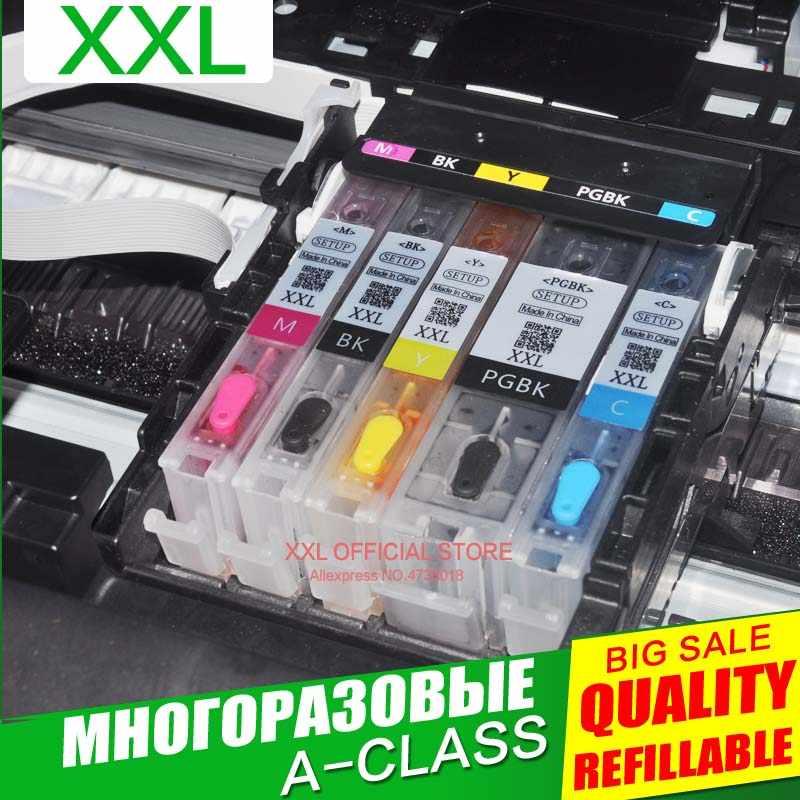 PGI-470 PGBK PGI470 CLI-471 cartucho de tinta rellenable chip permanente para impresora canon PIXMA MG6840 MG5740 TS5040 TS6040