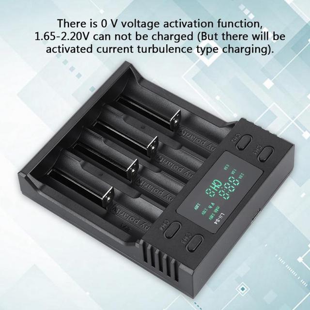 Зарядное устройство LiitoKala 5 В, 2 а постоянного тока, 4 слота, с дисплеем