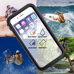 Image 5 - IPhone 7 için su geçirmez kılıf iPhone 8 darbeye dayanıklı yüzme dalış kar geçirmez kapak iPhone 7 8 sualtı koruyucu kılıf