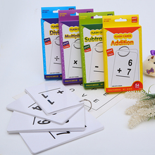Playing Card Chlidren Flash Cards Math Educational Cards Addition Subtration Studying Card Multiplication Division Teaching Card subtraction 52 flash cards