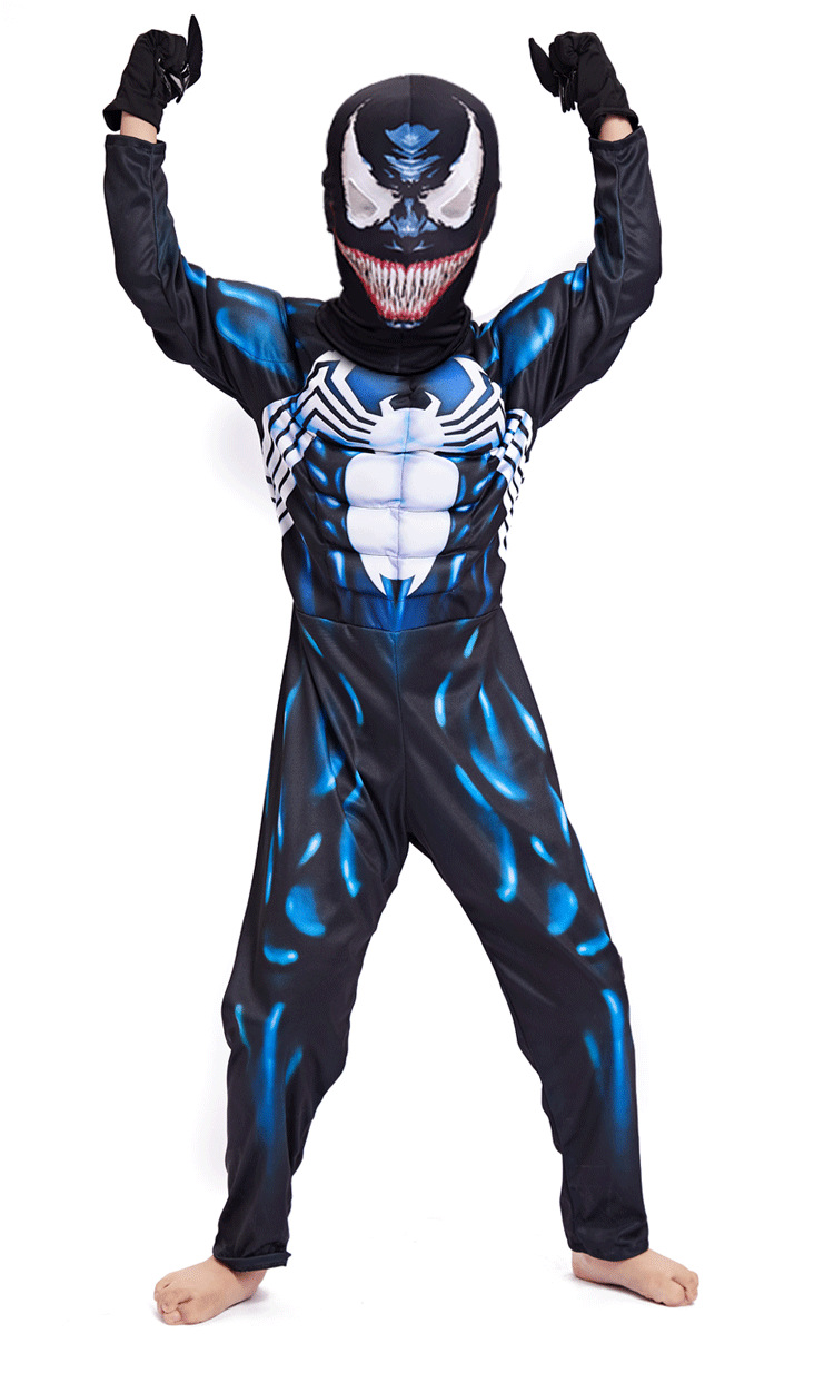 New Arrival Costumes Venom Movie Character  Halloween Superman Cosplay Fancy Party Jumpsuit Superhero Muscle