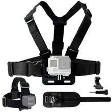 Mount Bundle for Gopro Hero 7, 6, 5, Black Session, Hero 4, Session, Black, Silver, Hero+ LCD, 3+, 3, 2, 1 - Chest Harness Mou стоимость