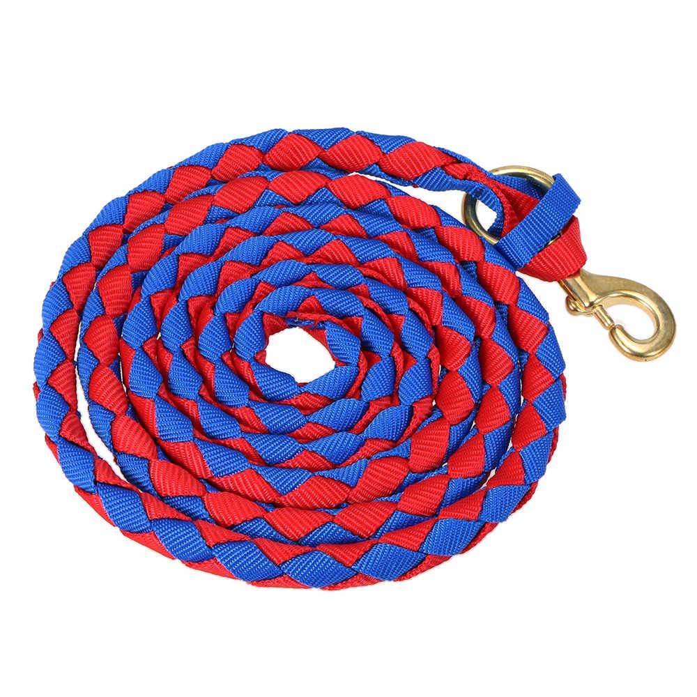 Плетеная веревка для поводьев конский поводок коса конский Холтер с латунной защелкой 2,0 м/2,5 м/3,0 м