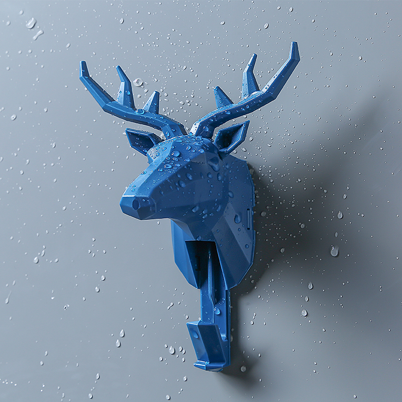 Wall Hanging Hook Vintage <font><b>Deer</b></font> Head Antlers Animal <font><b>Hanger</b></font> for Hanging Key Clothes Hat Scarf <font><b>Deer</b></font> Horns Wall Rack Room Decoration image