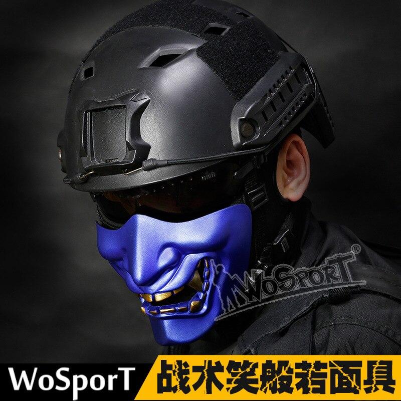 Halloween balle rire Funning Prajna Cosplay le diable terroriste adulte fête masque mâle Femal fantôme visage demi-visage masque tactique