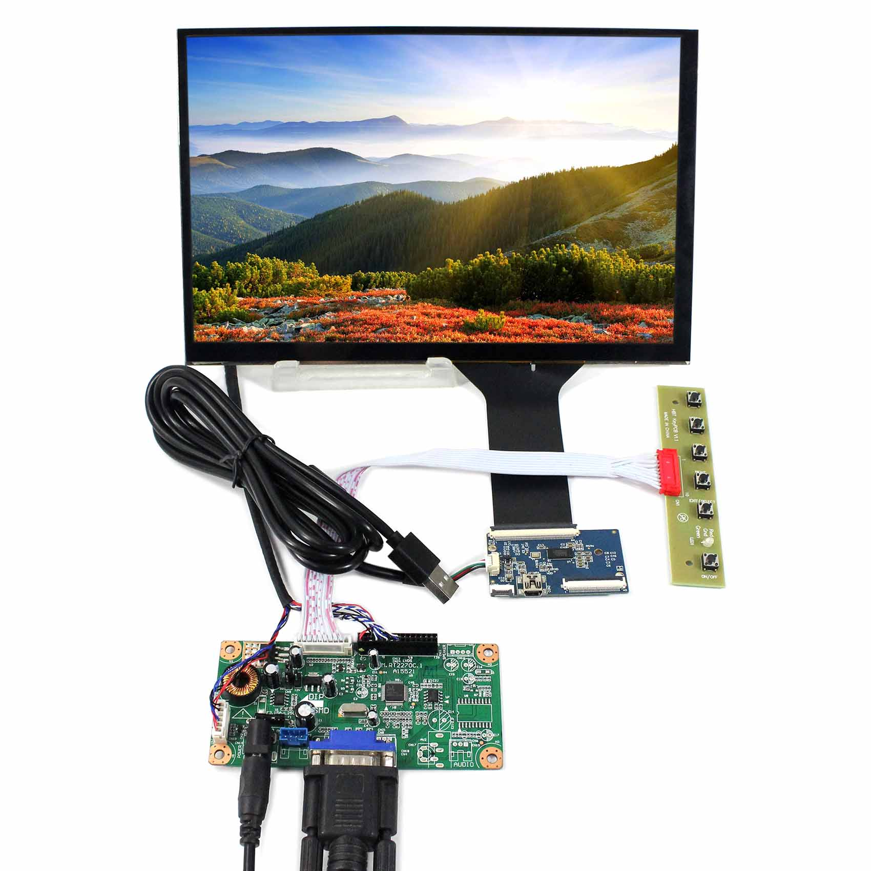 10.1 1280x800 LP101WX1 or B101EW05 Capacitive Touch LCD Screen with VGA LCD Driver Board 10.1 1280x800 LP101WX1 or B101EW05 Capacitive Touch LCD Screen with VGA LCD Driver Board