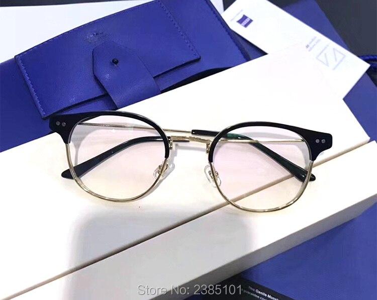 Optique classique doux lunettes cadre Prescription myopie lunettes demi cadre ordinateur femmes hommes lunettes lunettes à verres transparents - 4