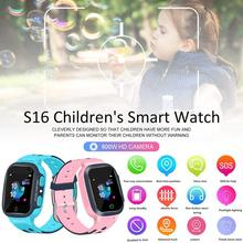 New S16 1.44-inch Touch Screen SOS Waterproof Positioning Super-long Standby Smart Childrens Telephone Apple Watch Kids Gift