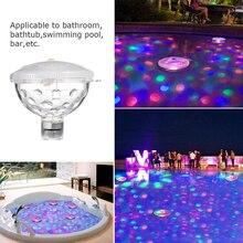 Плавающий подводный светильник RGB погружной светодиодный светильник для дискотеки светящийся шоу Плавательный Бассейн горячая ванна светильник для спа ванной светильник